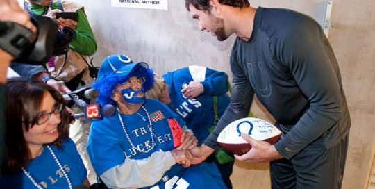 Danny Webber meeting Indianapolis Colt Andrew Luck. Heritage House Dreams