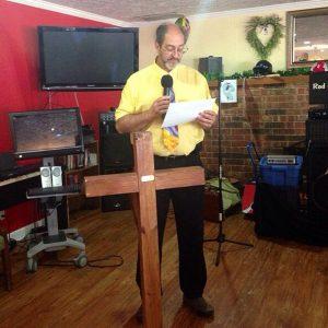 New Castle's Mayor Greg York reads the Nursing Home Week Proclamation
